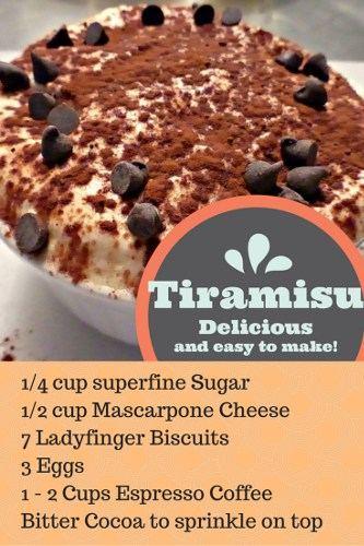 Tiramisu Recipe Pinterest