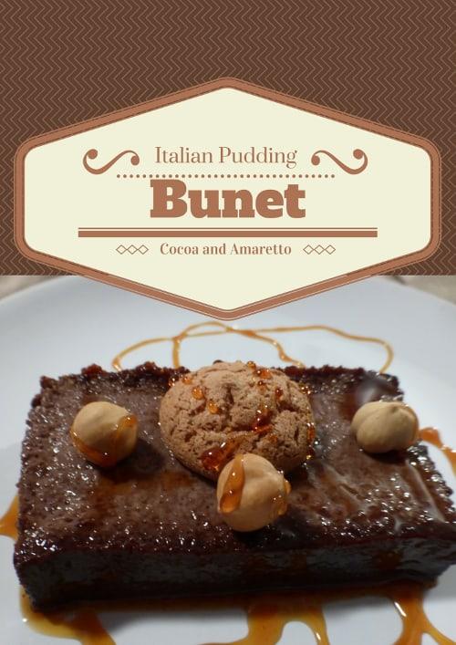 Cocoa and Amaretto Pudding