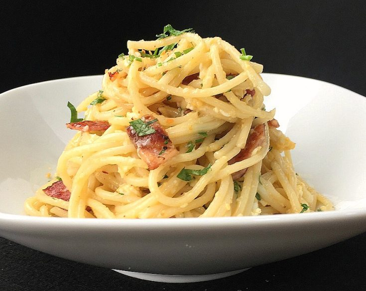 Bacon and Egg Spaghetti