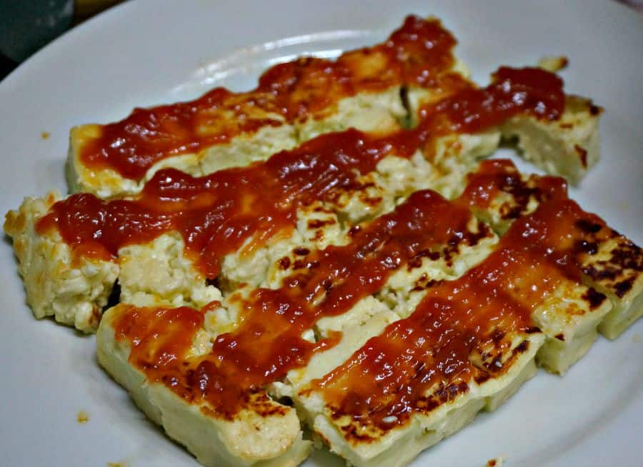 Pan Toasted Cheese and Guava Appetizer