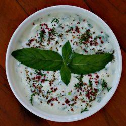 Yogurt Dip with Jalapeno and Fresh Herbs