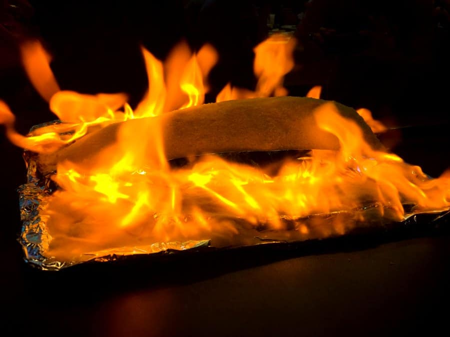 Flaming Fish Baked in Salt