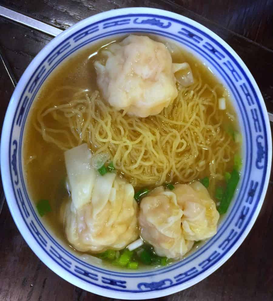 Singapore Food: Shrimp Wanton Mee Soup