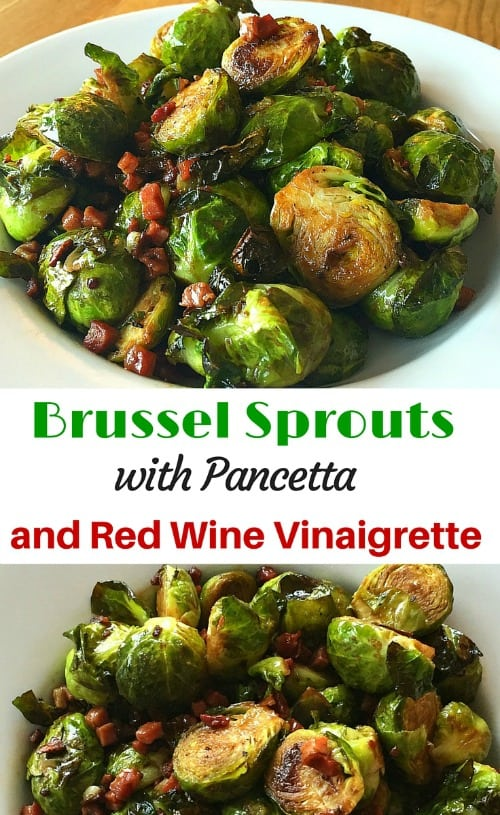 Brussel Sprouts Red Wine Vinaigrette Pancetta