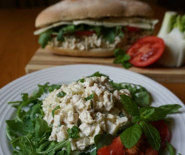 Poached Chicken Salad with Fennel and Mint