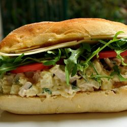 Poached Chicken Sandwich with Fennel and Mint