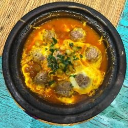 Moroccan Kefta Meatball Tagine with Tomato and Egg