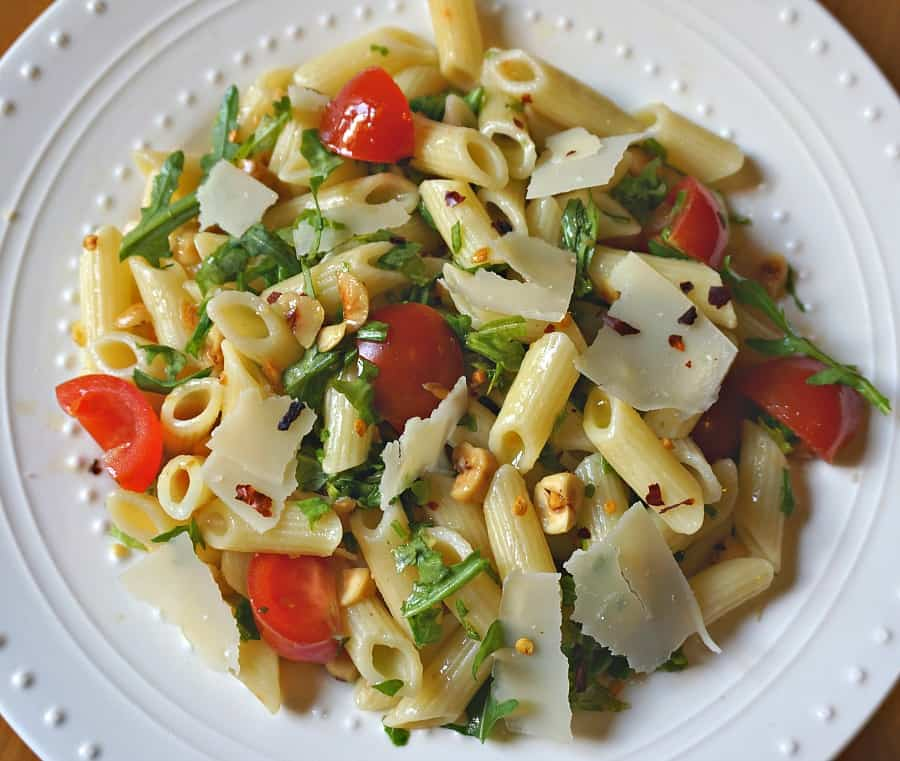 penne with arugula and tomatoes