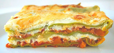 Green Lasagna with Ragu Bolognese