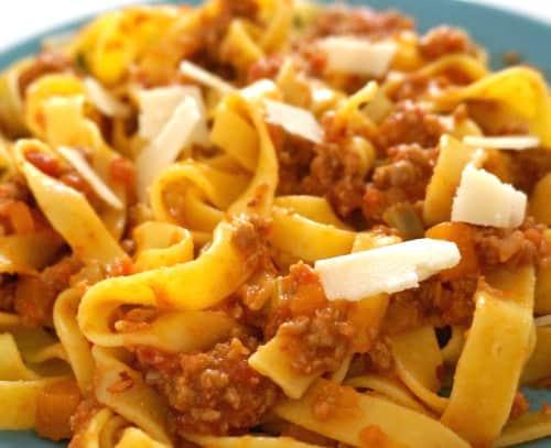 Tagliatelle with Ragù alla Bolognese