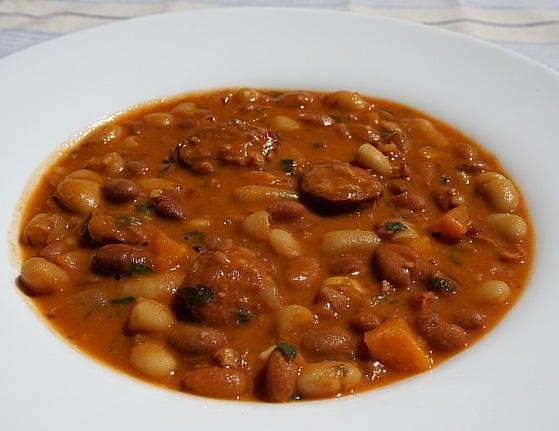 Croatian Bean and Sausage Soup (Grah)