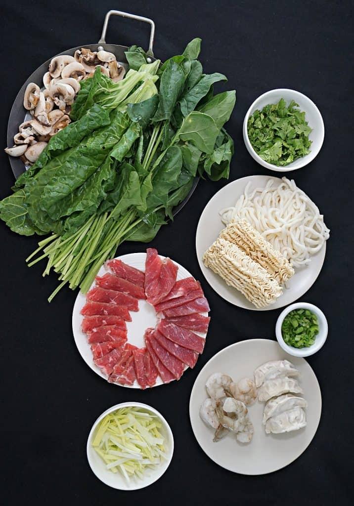 Shabu Shabu Ingredients