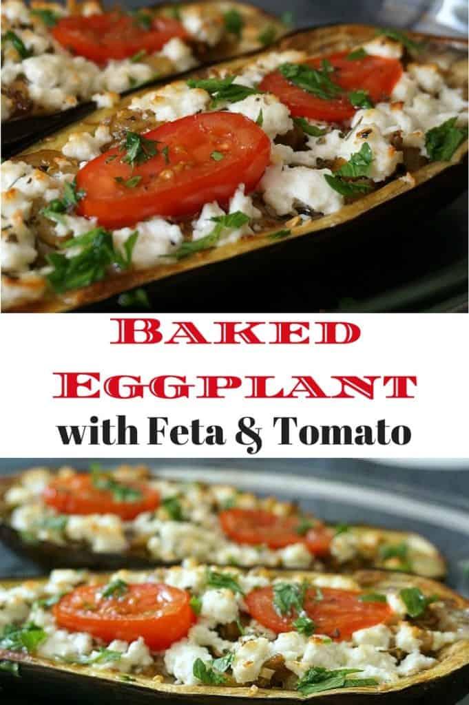 Baked Eggplant Feta Tomato