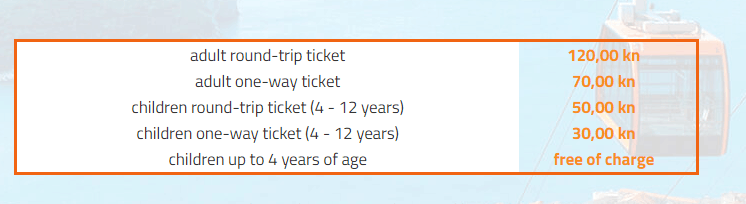 Dubrovnik Cable Car Prices