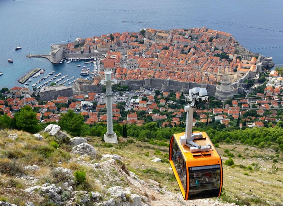 Dubrovnik Croatia Cable Car