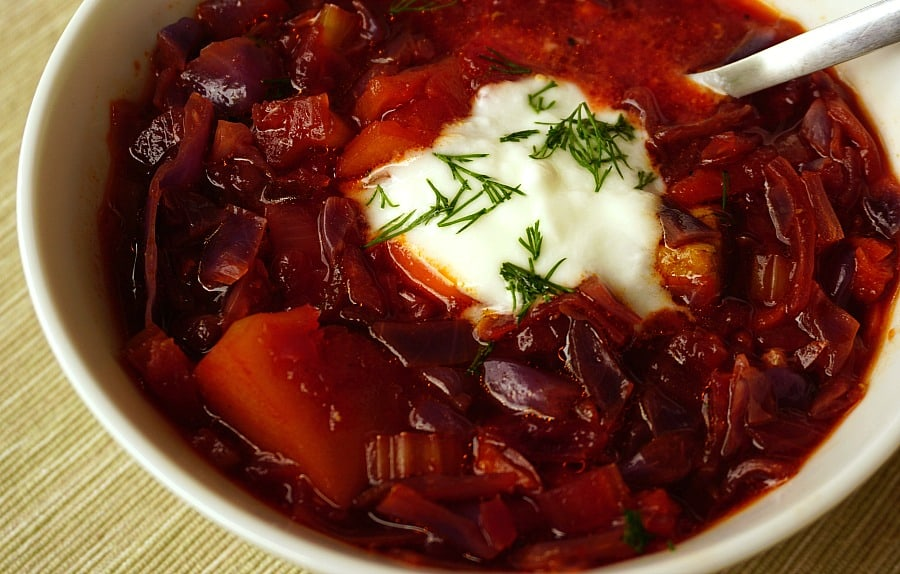 Beef Borscht Beetroot And Cabbage Soup