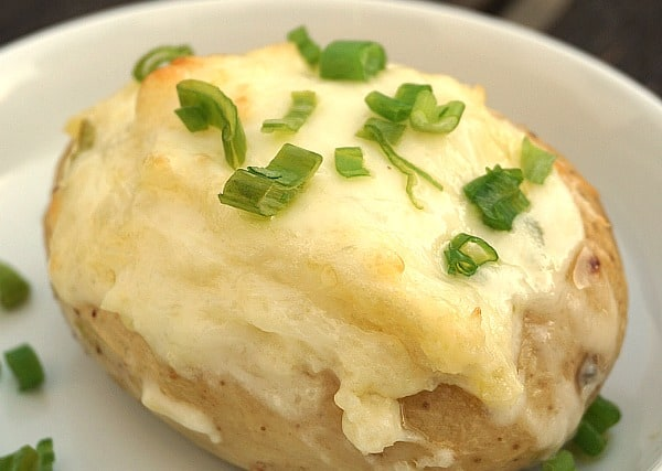 Twice-Baked Potatoes with Goat Cheese