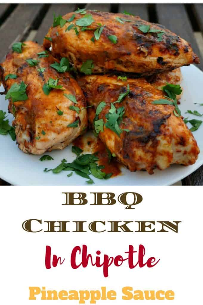 Barbecue Chicken with Pineapple and Chipotle Sauce