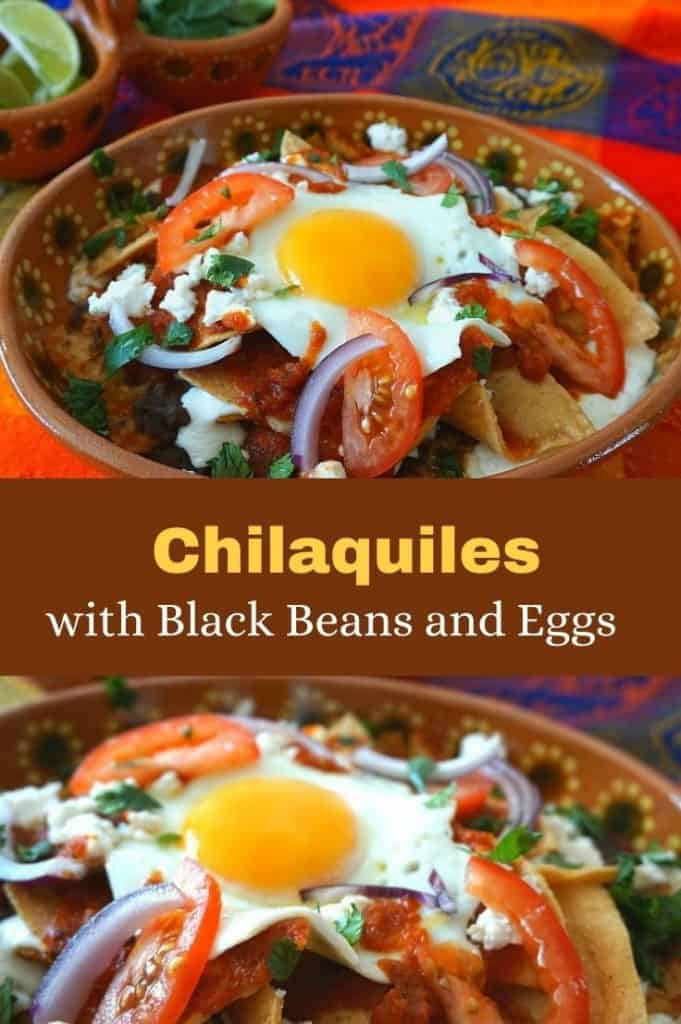 Chilaquiles with Black Beans