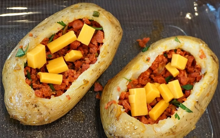 Chorizo Stuffed Potato