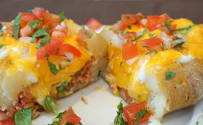 Chorizo Egg Stuffed Potato