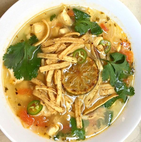 Sopa de Lima Yucateca - Mexican Chicken Lime Soup