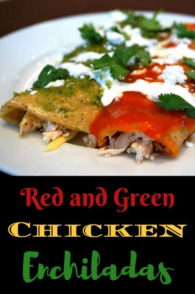 Red and Green Chicken Enchilada Recipe