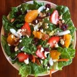 Salad with Fruit, Walnuts and Feta Cheese