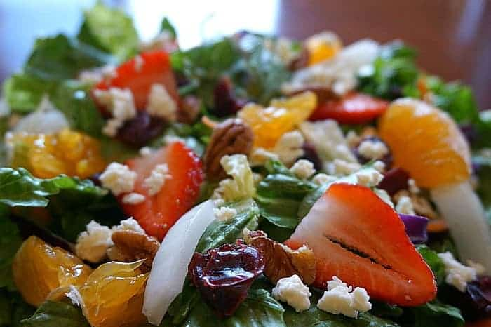 fruit nut balsamic salad