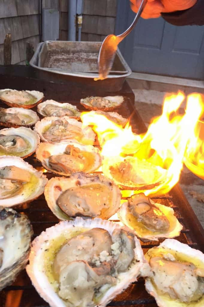 Grilled Oysters Half Shell