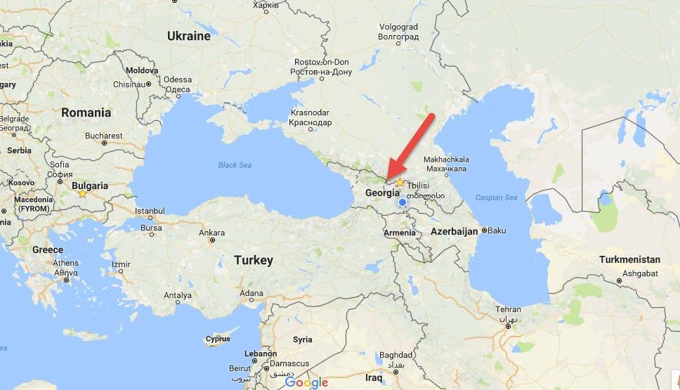 Republic of Georgia Location
