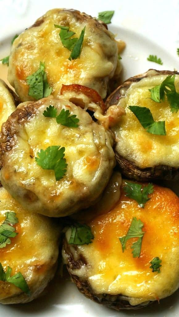 Cheese Stuffed Mushroom Caps