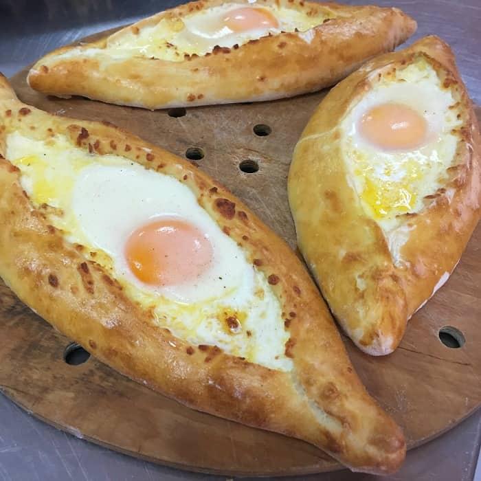 Ajarian Cheese Egg Khachapuri