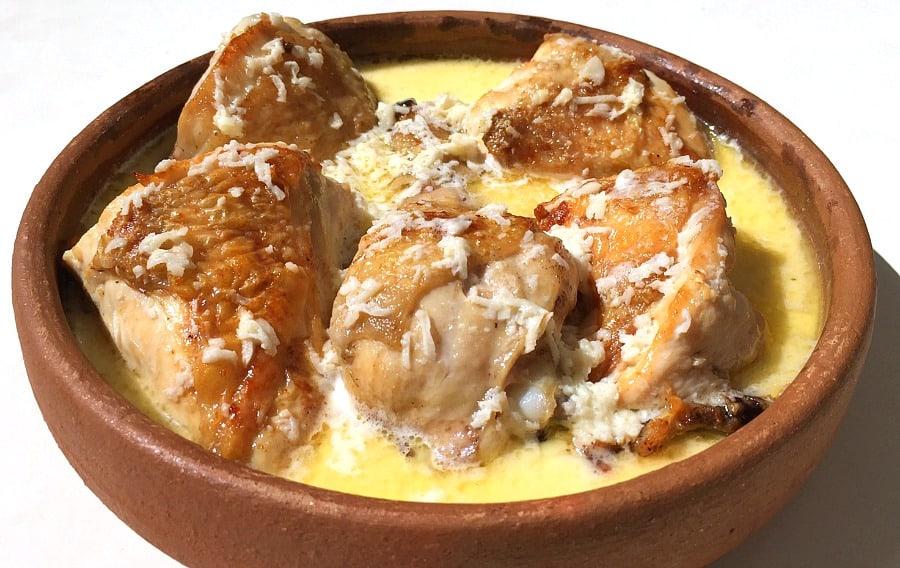Georgian Garlic Chicken Shkmeruli