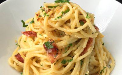 Bacon Egg Spaghetti Recipe