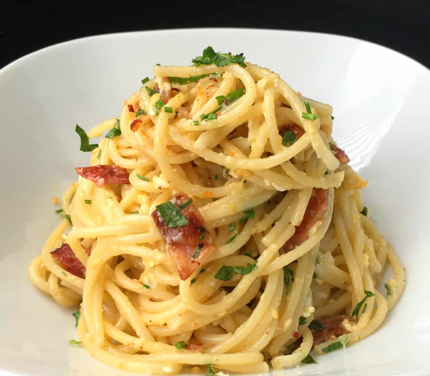 Bacon Egg Spaghetti Recipe