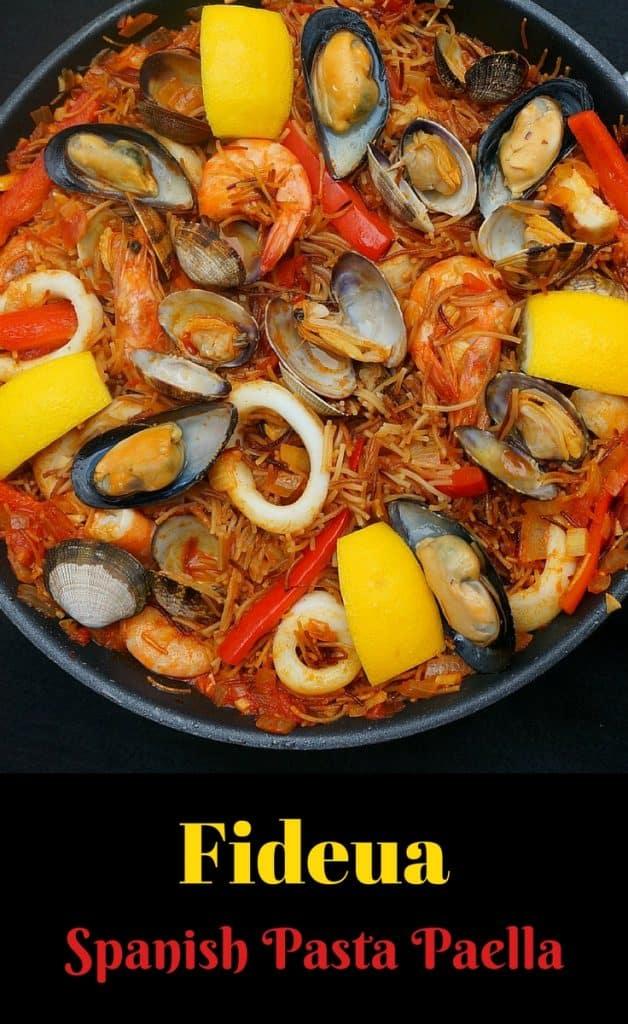 Seafood Pasta Paella - Fideua Marisco