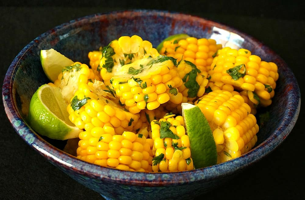Corn with Cilantro Lime Butter
