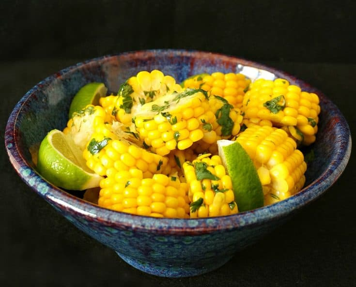 Corn on the Cob with Cilantro Lime Butter