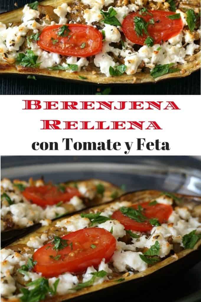 Berenjena Rellena con Tomate y Feta