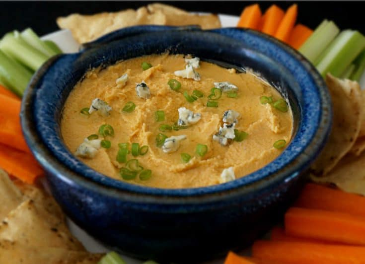 Spicy Buffalo Blue Cheese Hummus