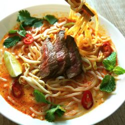 Malaysian Curry Beef Noodle Soup – Laksa