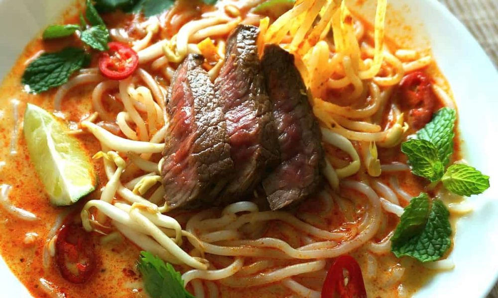 Beef Laksa Noodle Soup