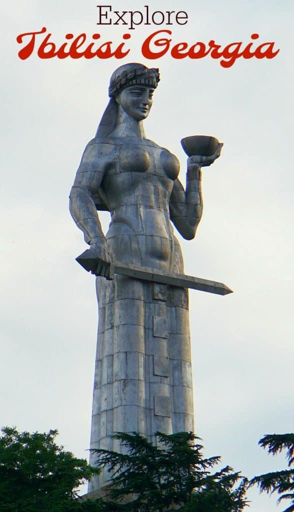 Kartlis Deda Tbilisi Statue of woman warrio