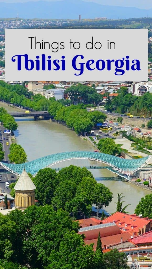Things to do in Tbilisi - modern glass and metal bridge