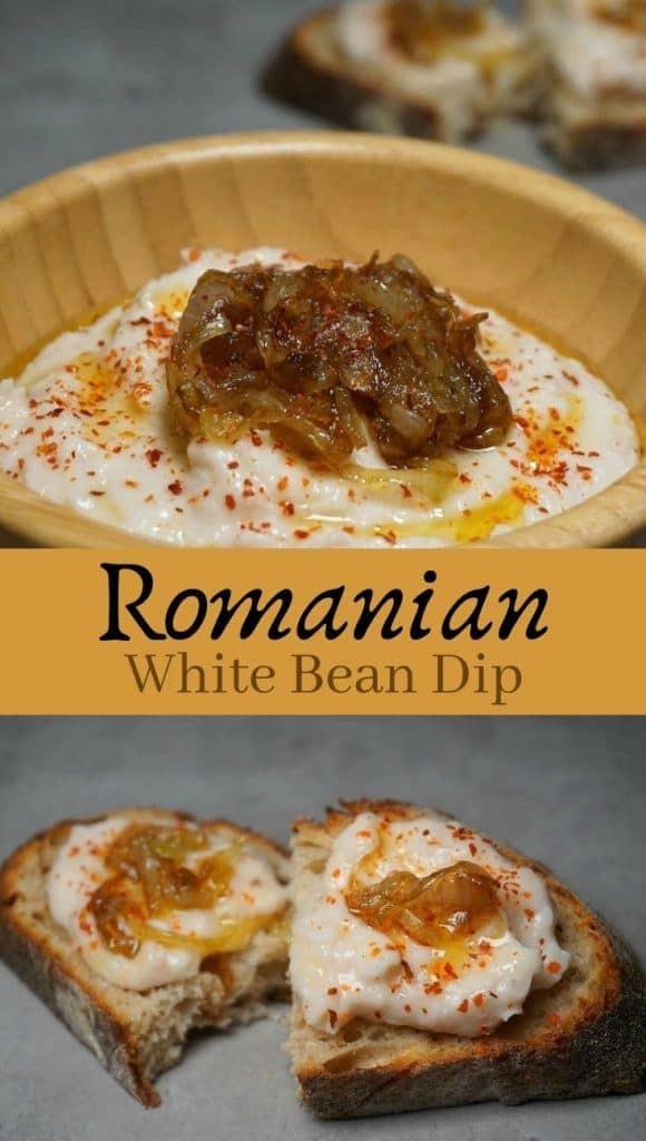 White Bean Dip with Caramelized Onion - Fasole Batuta
