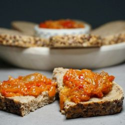 Zacusca – Romanian Eggplant and Red Pepper Spread