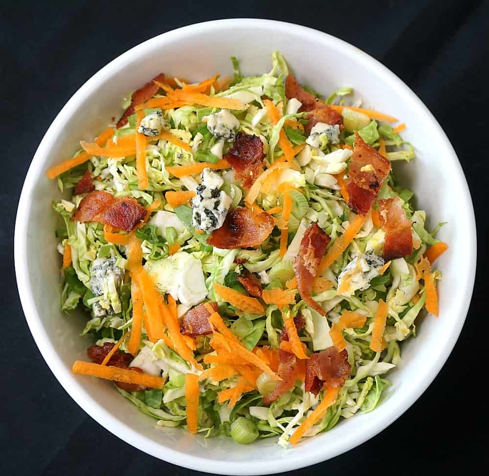 Brussel Sprout Slaw without Mayonnaise