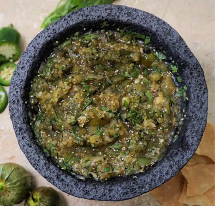 Molcajete with Salsa Verde