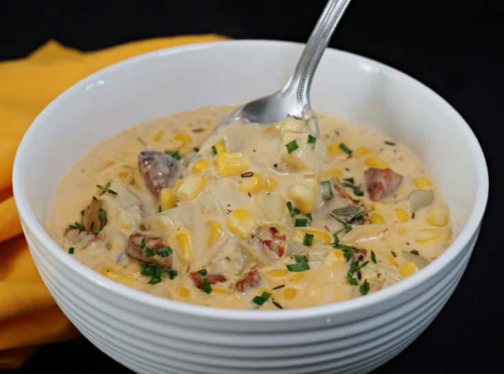 Corn and Spanish Chorizo Chowder
